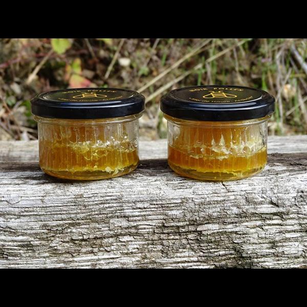 miel-en-breche-vue-des-pots-noir-pollen
